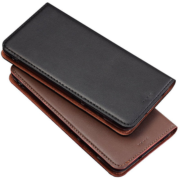 QX04 Genuine Leather Phone Bag With Card Holder For OPPO F7 Phone Case For OPPO F7 Flip Case Free Shipping