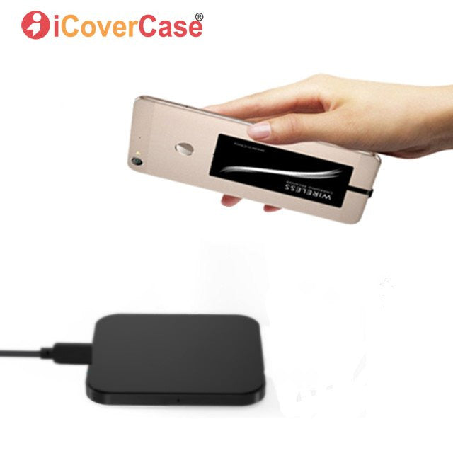 Qi Receiver With Wireless Charger For Xiaomi Redmi Note 6 Pro 5 Plus 5A Mi  A2 Lite 6A 6 S2 Phone Charging Pad Charge Clear Case