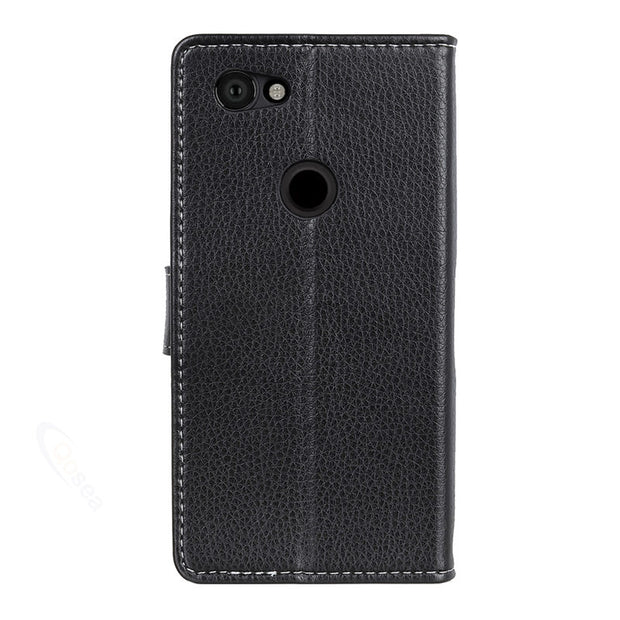 Qosea Luxury For Google Pixel 3 Lite Case Anti-fall Stand Protective Phone Bag Leather Case For Google Pixel 3 Lite Back Cover