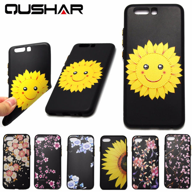 QuShar 3D Coque Fundas For Huawei P10 2017 Soft Case Shockproof Rubber Cover For Huawei P 10 Cell Phone Case Back Cover 5.1 Inch