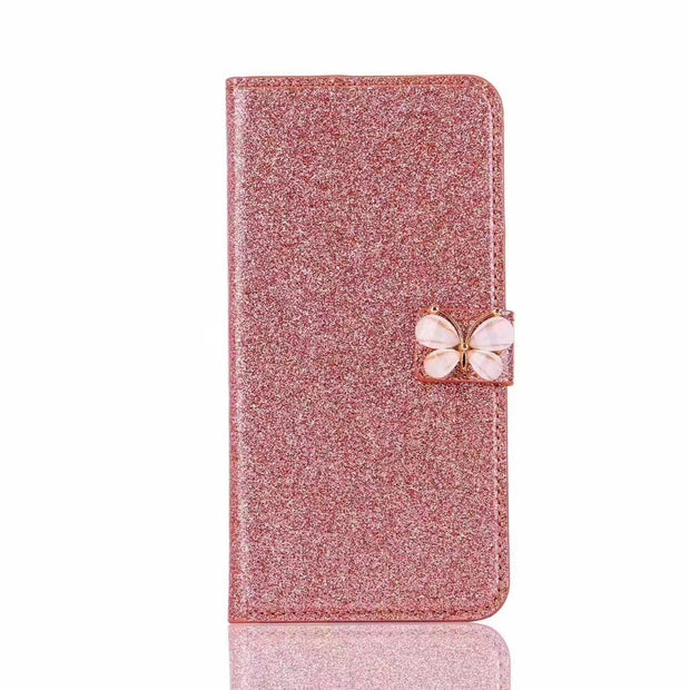 ROHDEA IphoneX Wallet Case, Fashion Butterfly Leather Purse Flip Card Pouch Stand Cover For Iphone6 7 8 8plus XR XSmax Capa