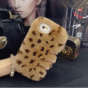 Rabbit Hair Fur Case For Iphone 8 X Skin Cover For Iphone 7 Plus 6s I6 5s Se 5c 4s Coque Capa Para Shell For Iphone 6s Plus