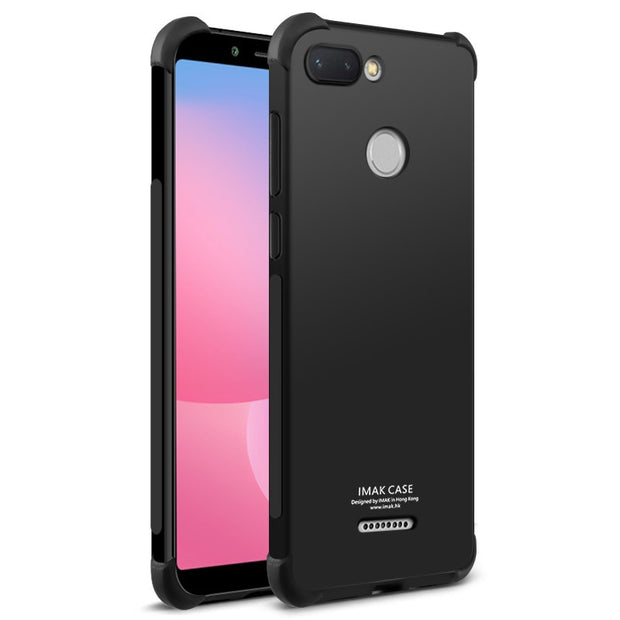 Redmi 6 Case Xiaomi Redmi 6 Case Cover IMAK Airbag Shock-Resistant Shockproof Silicone Soft Transparent TPU Case With Film
