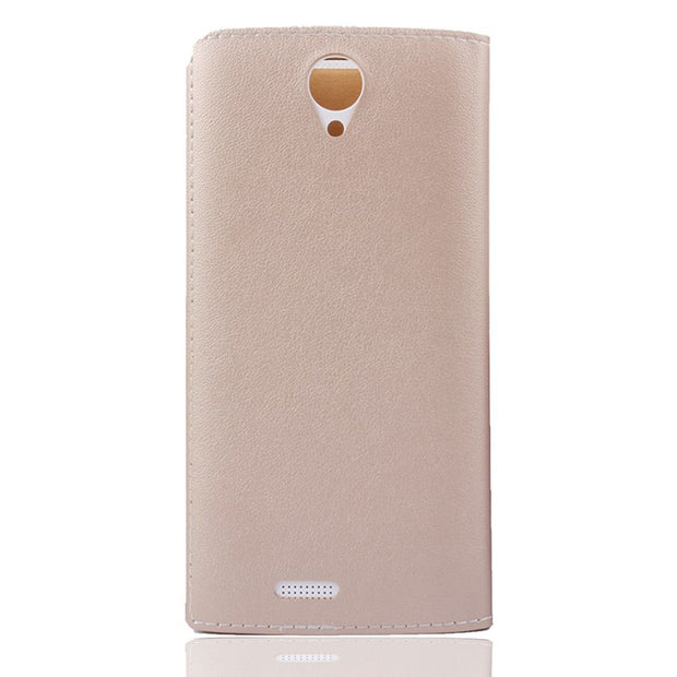 Remanbor New Arrival Leather Case For Leagoo Alfa 5 Flip Case Cover For Leagoo Alfa 5 In Golden Colour In Stock