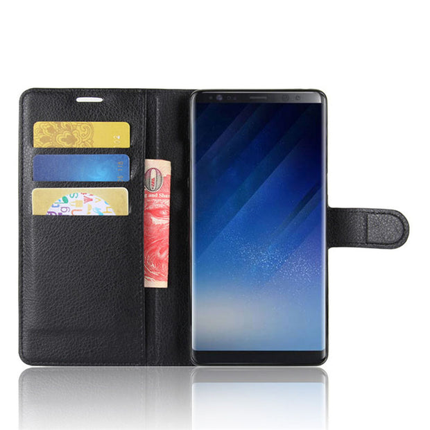 Retro Flip Cover Wallet Case For Samsung Galaxy Note 8 Leather Card Solt Case Luxury Black Brown Ultra Slim Original Coque Capa