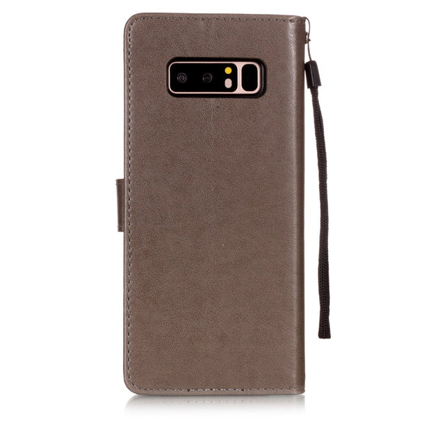Retro Flip Leather Wallet Phone Cases For Samsung Galaxy Note 8 Note 9 Cover Luxury Lotus Dandelion Flower Pattern Capa
