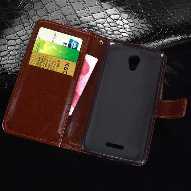 Retro Flip Back Skin For BQ-5057 Strike 2 Case Leather & Silicone Stand Pouch Capa For Coque BQ BQS-5057 BQS 5057 Cover Fundas