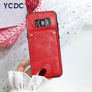 Retro Leather Cover Removable Wallet Case For Samsung S8 Plus S9 Plus Note 8