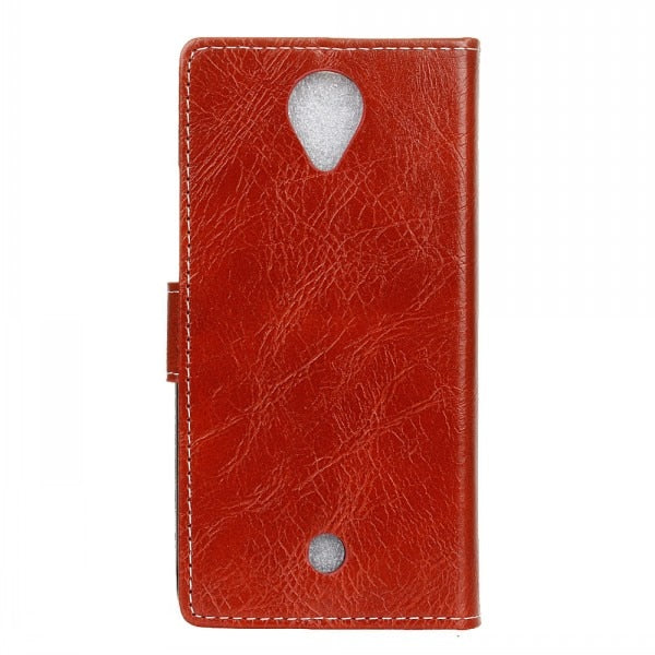 Retro Crazy Horse Pattern Wallet Card With Photo Frame Pu Leather Stand Case Cover For Wiko U Feel With Stylus Pen