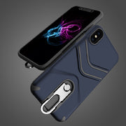 Rugged Shockproof Armor Phone Case With Metal Kickstand For Iphone 6s Plus 7 8 Plus X XR XS XS MAX Hybrid Heavy Duty Protection