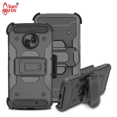 Rugged Shockproof Shell With Belt Swivel Clip Armor Hard Case For Motorola Moto X4 (2017) Cover Kickstand Protective Skin