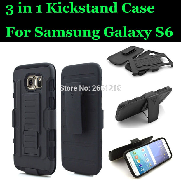 S6 G9200 Shockproof Future Armor Belt Clip Holster Case With Kickstand Cover For Samsung Galaxy S6 S 6 VI SVI G9200 5.1""