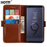 S9 Leather Case PU Leather Cover For Samsung Galaxy S9 Plus Flip Wallet Stand Case For Samsung S8 S8 Plus S7 S7 Edge Full Cover