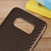 SHY Carbon Fiber Pattern Soft Silicone Case Cover Skin For Samsung Galaxy S8 Plus