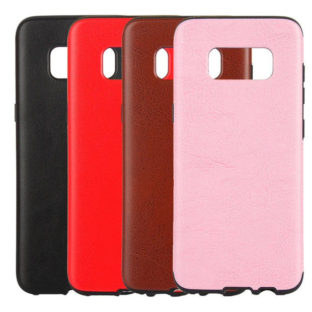 SHY Crazy Horse Solid Color Soft Silicone Case Cover Skin For Samsung Galaxy S8 Plus
