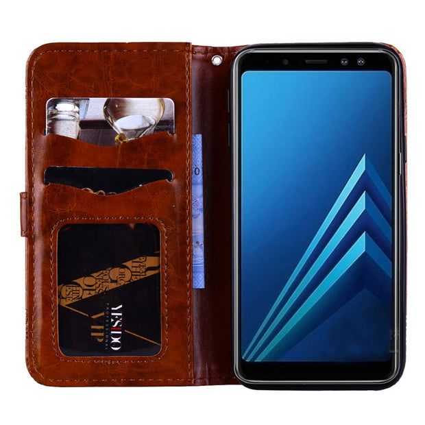 SM-A530F/DS For Samsung A530f Case A8 2018 SM-A530N SM-A530W A530f Ds For Samsungn Galaxy A5 2018 A530 Phone Flip Leather Cover