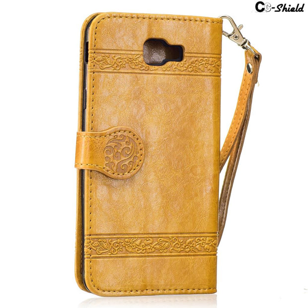 SM-G610M Flip For Samsung Galaxy J 7 J7 Prime Case G610 G610M G610F SM-G610F G610M/DS SM-G610M/DS Case Phone PU Leather Cover