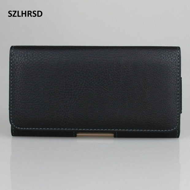 SZLHRSD Belt Clip PU Leather Waist Holder Flip Pouch Case For Vivo NEX A X21 X20 Plus X21i Y75s Y83 Z10 Z1i Z1 Y81 Y85 Y71 Cover