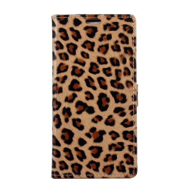 Sexy Leopard Pattern Flip PU Leather Cover Stand Wallet Card Money Slot Magnetic Snap Business Case For Nokia 7 Plus