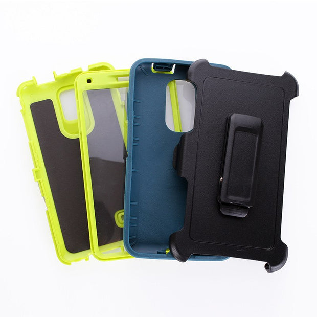 Shockproof Armor Robot Hard PC Cover For Samsung Note4 360 Degree Protection PU Rotatable Back Clip Screen Protector Belt Clip