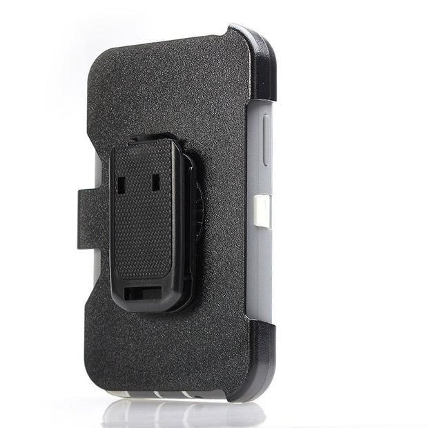 Shockproof Armor Robot Shell Hard PC For Samsung Note2 360 Degree Protection PU Rotatable Back Clip Screen Protector Belt Clip