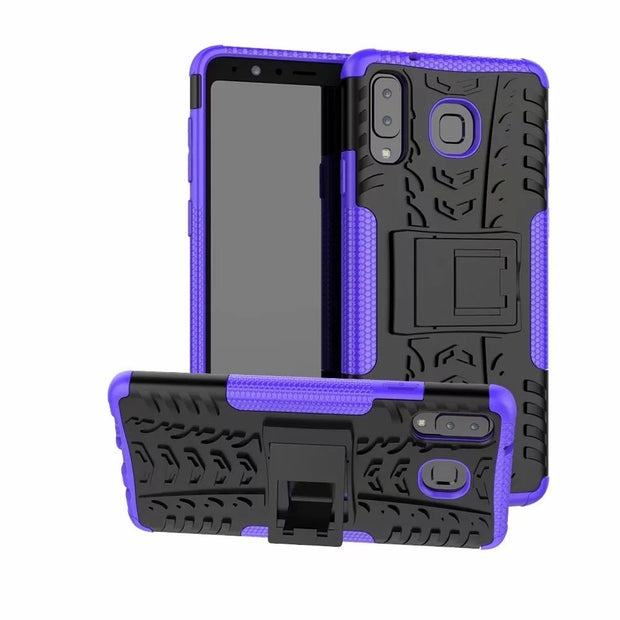 Shockproof Hybrid PC+TPU Kickstand Phone Case For Samsung Galaxy A9 Star Back Cover