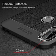Silicon Case For Huawei P Smart Plus Case Soft Bumper Luxury Leather Silicone Back TPU Cover On For Huawei P Smart Plus Case