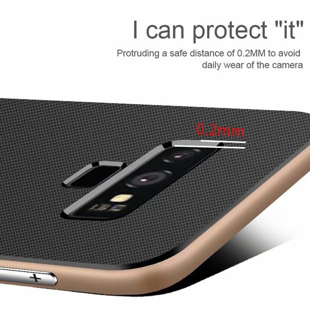Silicon Shockproof Case For Samsung Galaxy S8 S9 Plus Note 9 Hard PC Stand Soft TPU Cover Armor Case For Samsung S8 Note 8 Cases