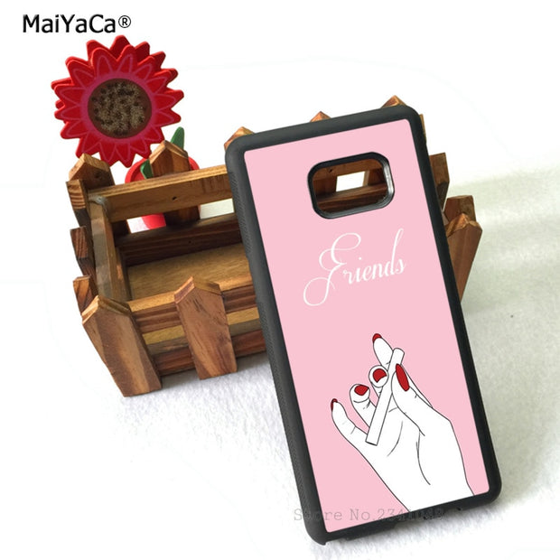 Smoking Best Friends Forever Silicone Phone Cases For Samsung S5 S6 S6edge Plus S7 S7edge S8 S8plus S9 S9plus Note5 Note8 Note9