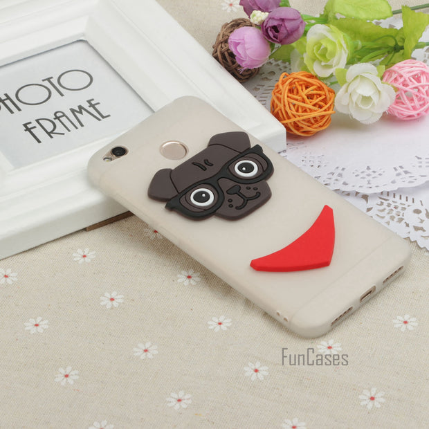 Soft TPU Dog Phone Case For Xiaomi Redmi 4X Compact Safflower Silica Gel Cover Back Case For Redmi 4X Coque Fundas