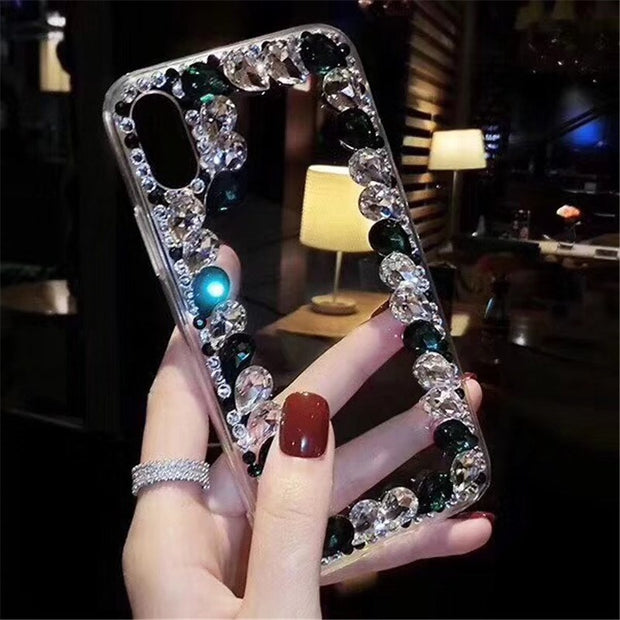 Soinmy Glitter Diamond Case For Iphone 6 6plus Case Luxury Rhinestone Back Cover For Iphone 6 6s 7 8 Plus X 10 Capa Coque Fundas