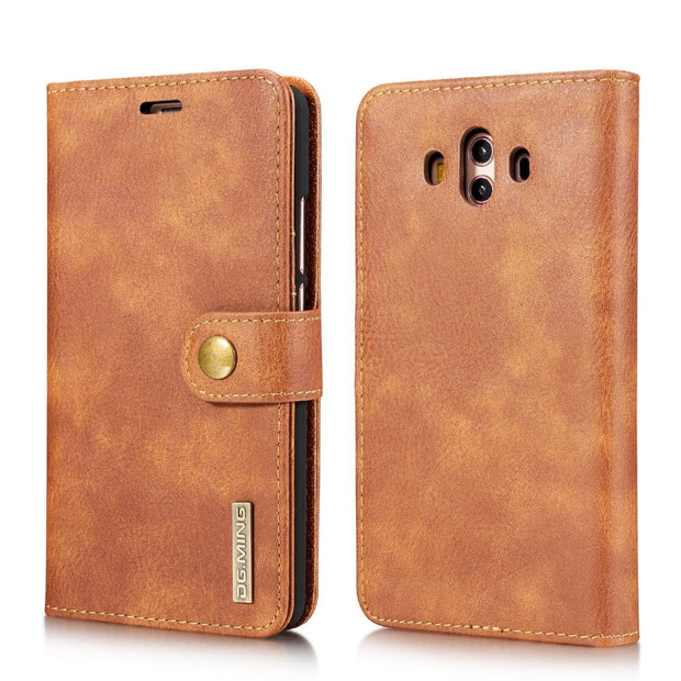 Split 2 In 1 Leather Wallet Flip Case For Huawei Mate 10 9 P10 Plus P9 P8 Lite 2017 Case Card Slot Magnet Retro Cover Fundas