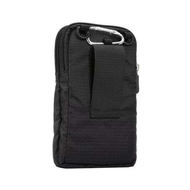 Sport Phone Case For Sony Xperia XA1 Plus XZ Z5 Premium C3 Cover Hook Loop With Belt Pouch Outdoor Double Pockets Bag Coque Etui