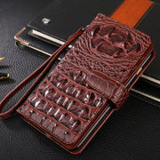 Stand Card Slots Crocodile Patterm Flip Wallet Case For Fundas Motorola Moto Z2 Play Flip Protective Case