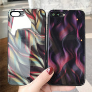 TEMPERED GLASS Phone BagS FOR APPLE IPHONE 7 8 PLUS X 6S 6 PLUS COOL COLOR PRINT TEMPERED GLASS Cover Cases SHELL FUNDAS COQUE