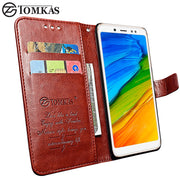 TOMKAS Case For Xiaomi Redmi Note 5 5 Pro Case Leather Wallet Card Slot Phone Cover Coque For Xiaomi Mi 6X A2 Phone Flip