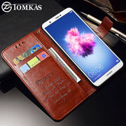 TOMKAS Wallet Case For Huawei P Smart Cover Cases Leather Flip Enjoy 7s Business For Huawei P Smart Phone Kickstand Coque