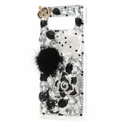 TURATA 3D Handmade Case For Samsung Galaxy Note 8 Bling Crystal Diamond Rhinestones Case For Samsung Galaxy Note 8 Plastic Cover