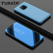 TURATA Luxury Smart View Case For Huawei Mate 20 Pro Plating Mirror Flip Leather Stand Cover Cases For Huawei Mate 20 Pro Case