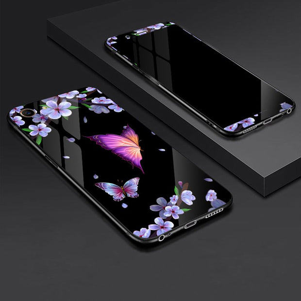 Tempered Glass Case For OPPO A83 OPPOA83 Full Cover Case With Tempered Glass Screen Protection Film For OPPO A83 A 83 Case