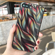 Tempered Glass Phone Cases For Apple Iphone 7 8 Plus X 6s 6 Plus Cool Color Print Tempered Glass Case Covers Shell Fundas Coque