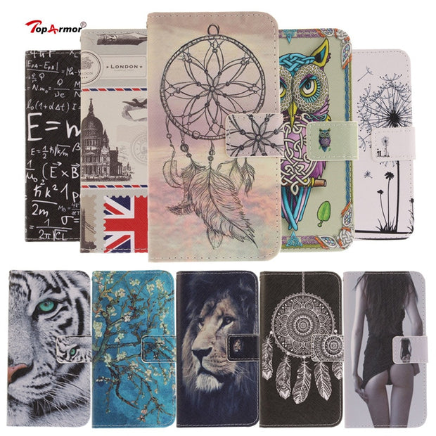 TopArmor Case Luxury PU Leather Magnetic Flip Cover For LG K3 K4 K10 (2017) Stand Wallet Shell For LG K8 (2017) M200N X240 Case