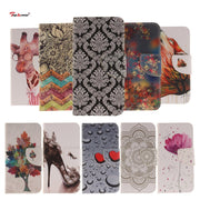 TopArmor Case PU Leather Cover For Huawei P8 Lite 2017 Stand Slots Flip Wallet Cover For Huawei Honor 8 Lite Phone Cover Coque