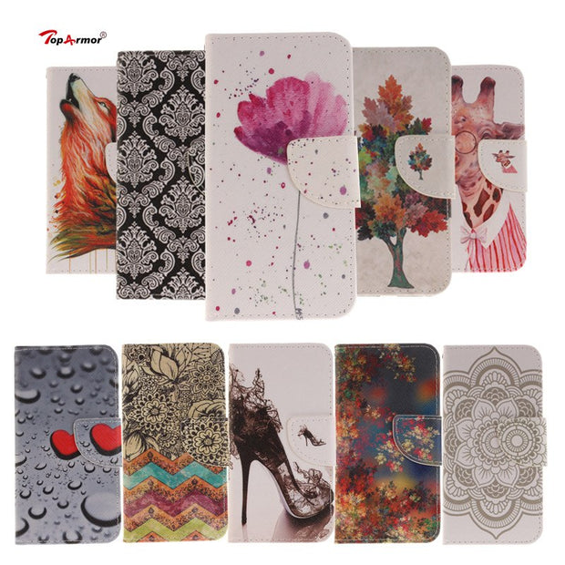 "TopArmor Case PU Leather Shell For Sony Xperia XA Ultra F3212 6.0"" Stand Slots Flip Wallet Cover For Sony Xperia C6 Case Coque"