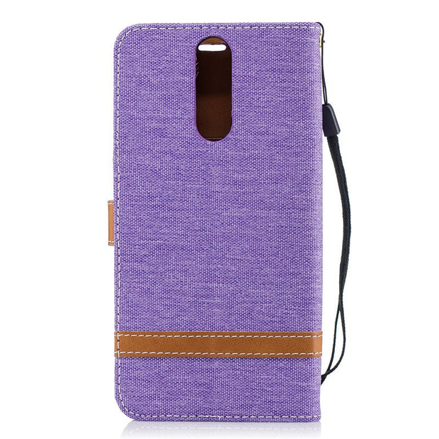 TopArmor Case Denim+PU Cover For Huawei Mate 10 Lite Cover Card Slots Flip Wallet Shell For Huawei Maimang 6 Phone Case Bags
