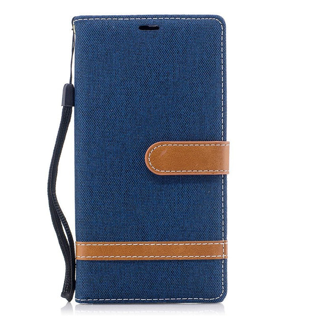 TopArmor Case Denim+PU Cover For Sony Xperia XZ Premium Bags Flip Stent Wallet Shell For Sony Xperia XZ Premium Phone Case Coque
