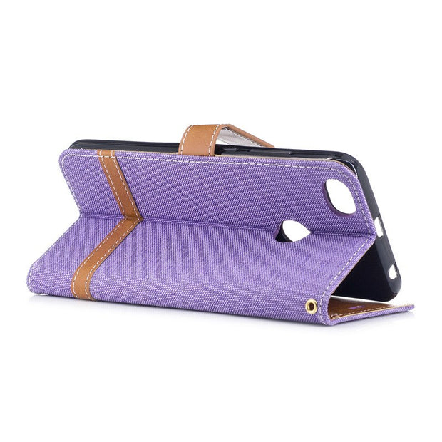 TopArmor Case Denim+PU Cover For Xiaomi Redmi Note 5A 5.5 Inch Bags Cover Flip Wallet Shell For Xiaomi Redmi Y1 Phone Case Coque