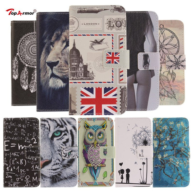 TopArmor For Nokia 6 Case Magnetic Flip Wallet PU Leather Painted Case For Nokia6/Nokia 6 Cover Stand Card Slots Phone Case Capa