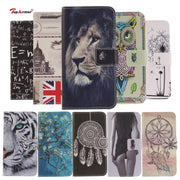 TopArmor PU Leather Case For Samsung Galaxy J3 J5 J7 2017 J330 J530 J730 Eurasia Edition Wallet Painted Stent Shell Cover Coque