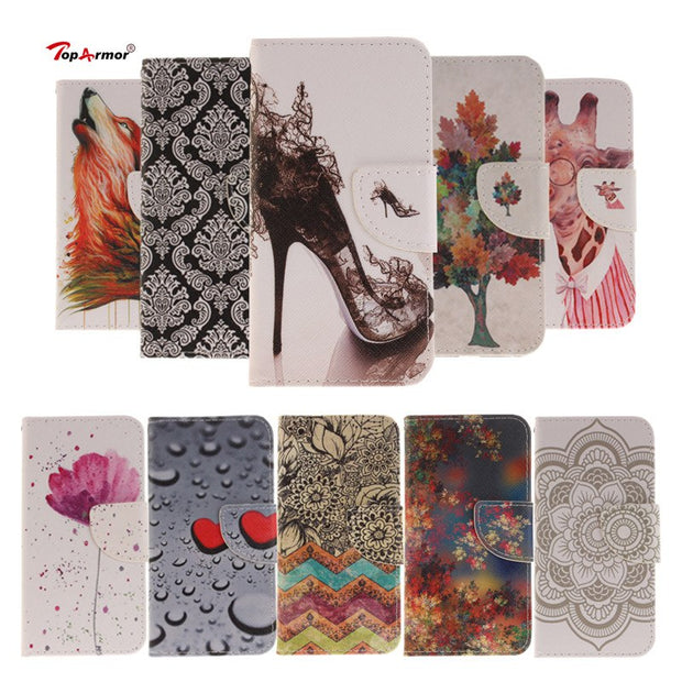 "TopArmor PU Leather Flip Capa Phone Case Cover For Huawei P10 Lite 5.2"" Wallet Card Slots Phone Shell Phone Cases Bags Coque"